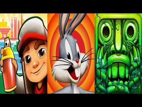 Subway Surfers 2017 Shanghai VS Looney Tunes Dash VS Temple Run 2 Lost Jungle