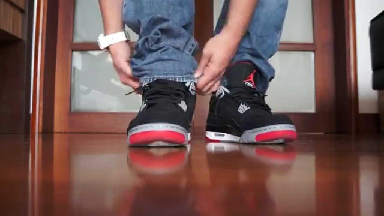 Descarga apretado Doncella  En pies Jordan 4 Retro
