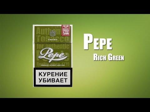 Обзор сигарет Pepe Rich Green (18+)