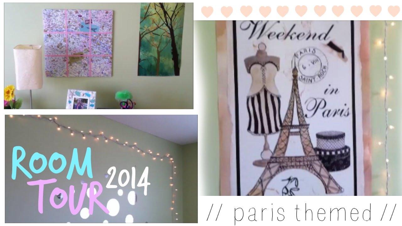 room tour 2014 paris themed youtube