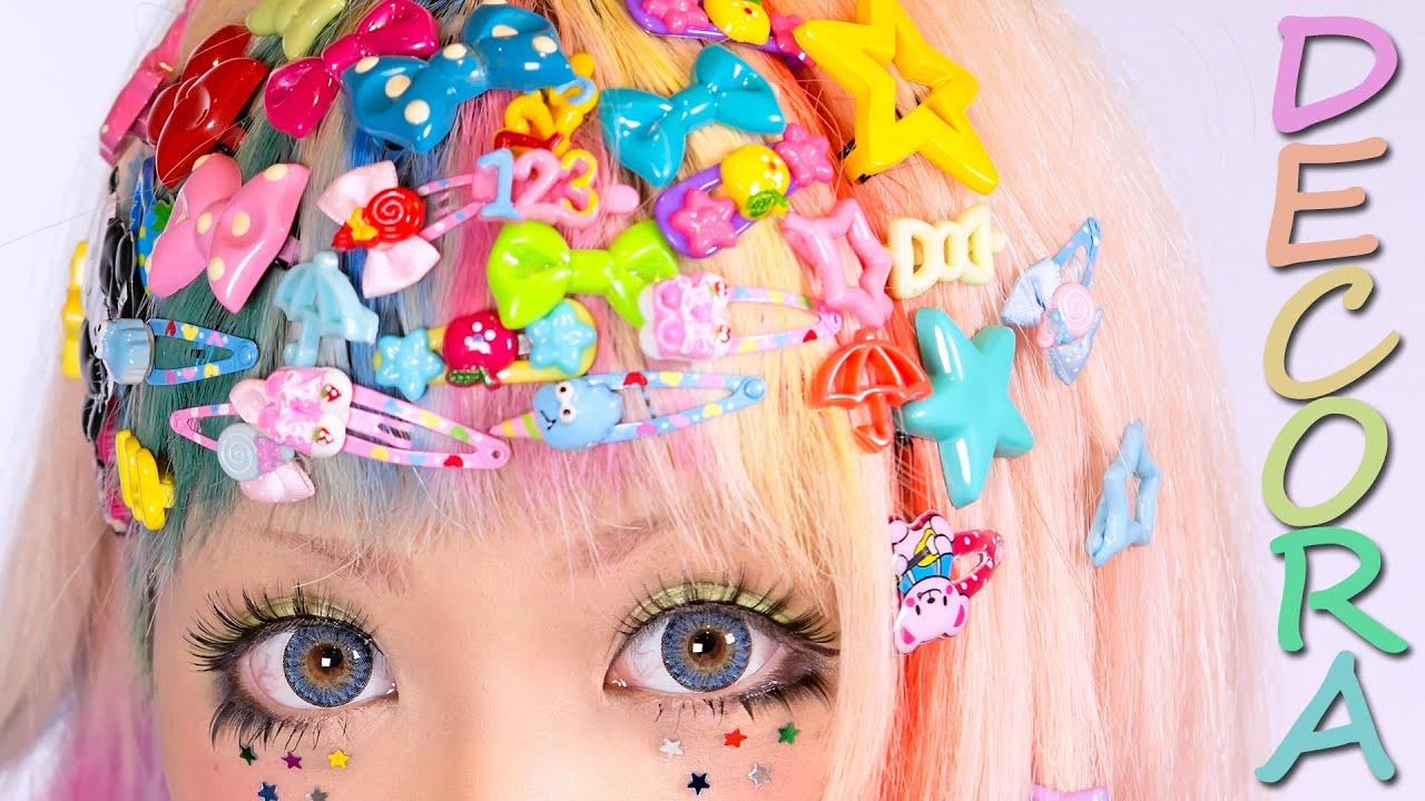 Decora Decora Tutorial Kawaii Hair Style Youtube