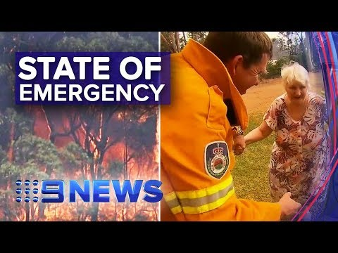 Dramatic Escape As Hellish Fire Descends On NSW Town | Nine News Australia