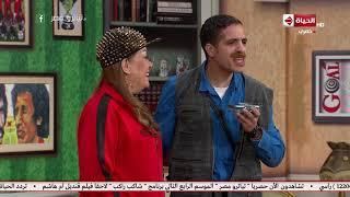 تياترو مصر - الكابتن أيمن الناشف يجري حوار صحفي مع الكابتن ماجد