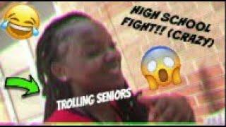 TROLLING SENIORS AT LUNCH + HIGHSCHOOL FIGHT!! 😂😱💢