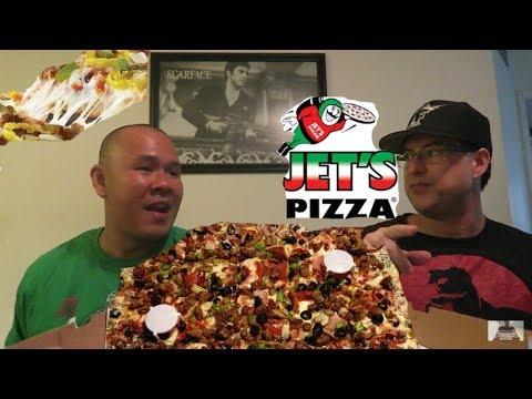 Jet's  Pizza  Mukbang / Lets Eat Jets Pizza together with Thai-Sticks / Mukbang #6 / Big Baller