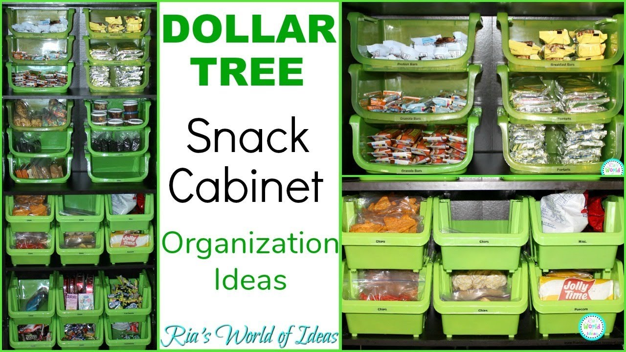 Merveilleux CREATING AN ORGANIZED SNACK CABINET | DOLLAR TREE ORGANIZATION | KITCHEN  ORGANIZATION