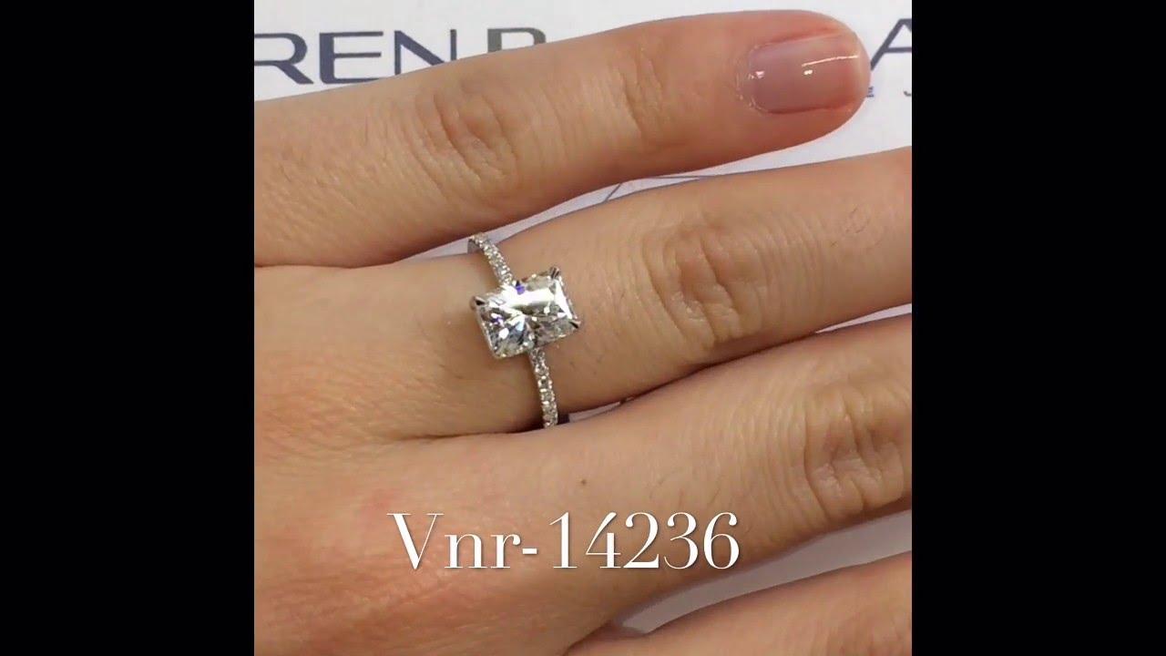 2 Carat Radiant Cut Moissanite Ring Vnr 14236 Youtube