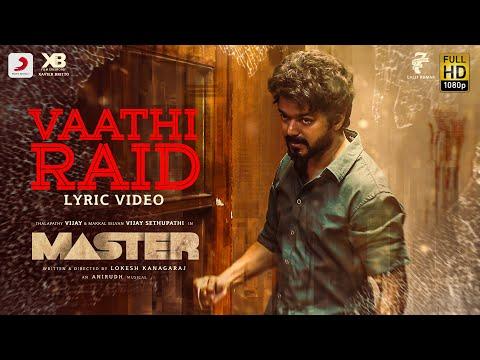 Master Vaathi Raid Lyric Song | Thalapathy Vijay | Lokesh Kanagaraj