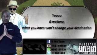 G watano FT Shebby- MLALE PEMA PEPONI LYRICS(official video HD)