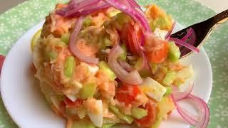 Вкусный салат для праздничного стола. Время поесть.