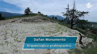 La obra hidráulica, en Texcoco, tiene un tramo partido de entre 10 a 12 metros;  mientras se investigan los daños provocados hace un mes, el lugar considerado un Monumento Arqueológico luce descuidado