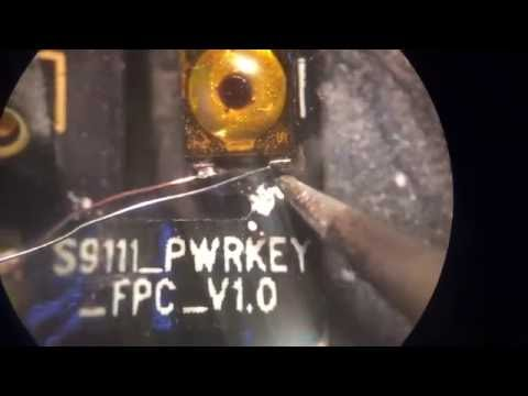 Reconstrucción pistas de botón power wiko stairway