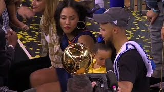 Stephen Curry Celebrates With His Family | NBA Finals | June 12, 2017