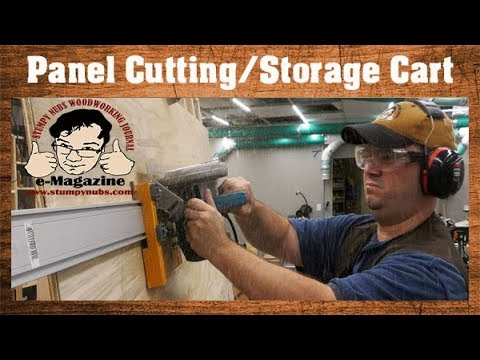 Must see homemade panel-cutting plywood cart!