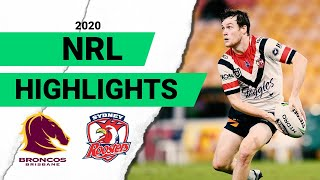 Broncos v Roosters Match Highlights   Round 4 2020   Telstra Premiership