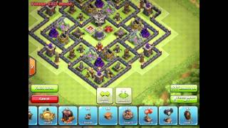 Clash of Clans | Best TH9 Farming Base | New Update Air Sweeper 2015