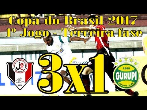GOLS: JOINVILLE 3 X 1 GURUPI - COPA DO BRASIL 2017