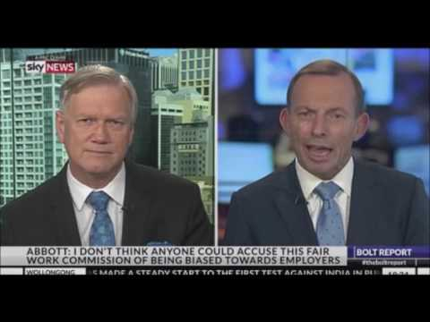 Tony Abbott in context. Not a Sky News edited  'GRAB'