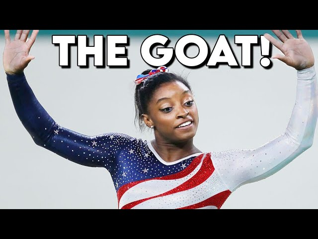 Simone Biles being the GOAT for 60 seconds #shorts