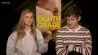 "Writer/Director, Bo Burnham and star, Elsie Fisher of ""Eighth Grade"" talk about their critically-acc"
