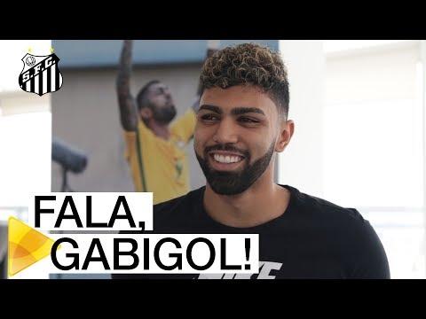 Primeira entrevista de Gabriel após o seu retorno ao Santos FC