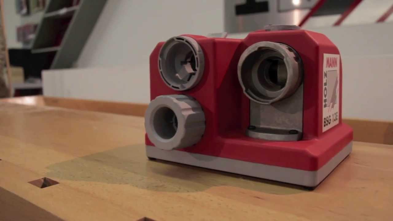 Holzmann Bohrerschärfgerät BSG 13E Schärfgerät für Bohrer Schleifgerät 80 Watt