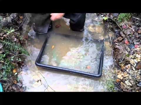 Martin Prospecting low velocity clean up sluice in a small creek