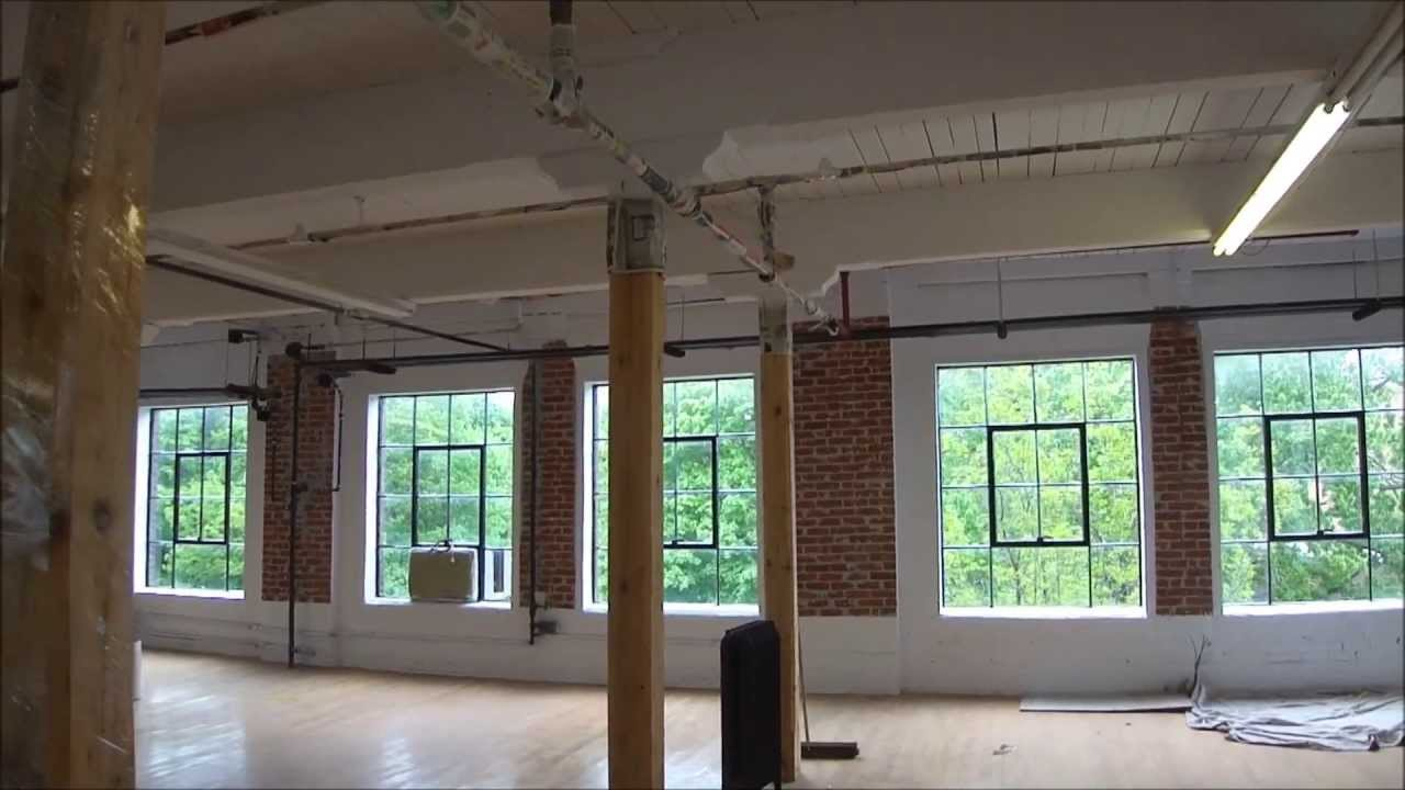 Our visit of 7000 pc loft style office space for lease for Shared office space montreal