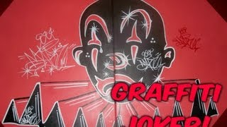 GRAFFITI JOKER BRAND LOGO PAINTING CANVAS- 2STAR