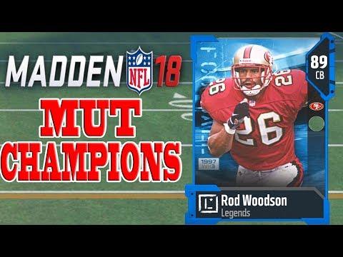 *NEW* LEGEND ROD WOODSON! Madden 18 MUT Champions Knockout Tournament
