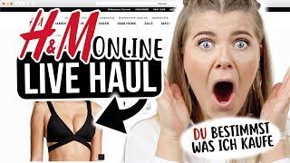 ONLINE H&M LIVE HAUL 💻 | IHR bestimmt was ich kaufe 😱 | Coco