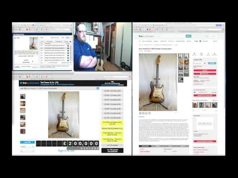 Jimi Hendrix 64 Strat Auction Sold April 1 2015 Live recording as it happened