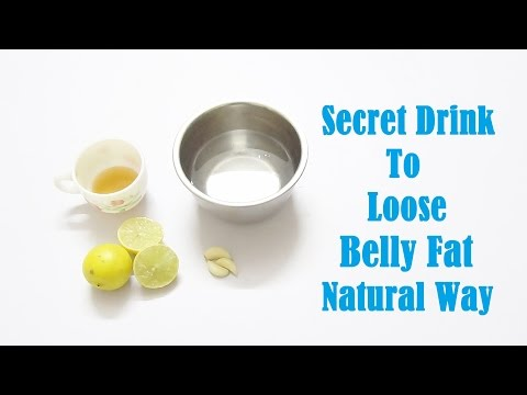 Secret Drink to lose Belly Fat Natural Way!!!