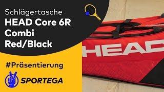 Schlägertasche Head Core 6R Combi Red/Black