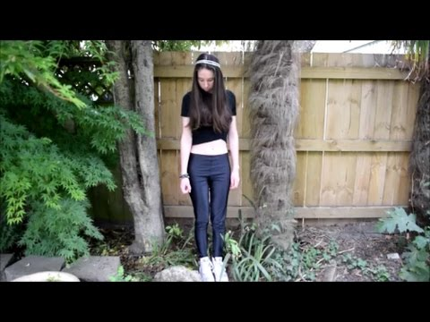ff6ff5d7ae9 How To: Style! Leather Leggings with Crop Tops! - YouTube