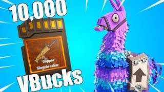 OP SIEGEBREAKER! | Fortnite MYTHIC and LEGENDARY Llama Opening!
