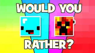 the most extreme minecraft would you rather in history