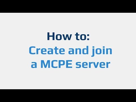 How To: Create And Join A MCPE Server