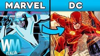 Top 10 SUPEREROI che la MARVEL ha COPIATO dalla DC!