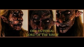 Lord of the Rings Orc make-up tutorial - Iconic Movie Monsters