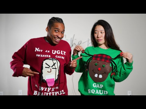 We Made Ugly Christmas Sweaters With Our Faces On Them. Who Did Better?