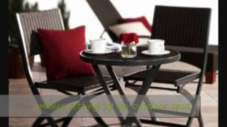 Create A Relaxing Outdoor Spot Easy And Quick With A Folding Bistro Set