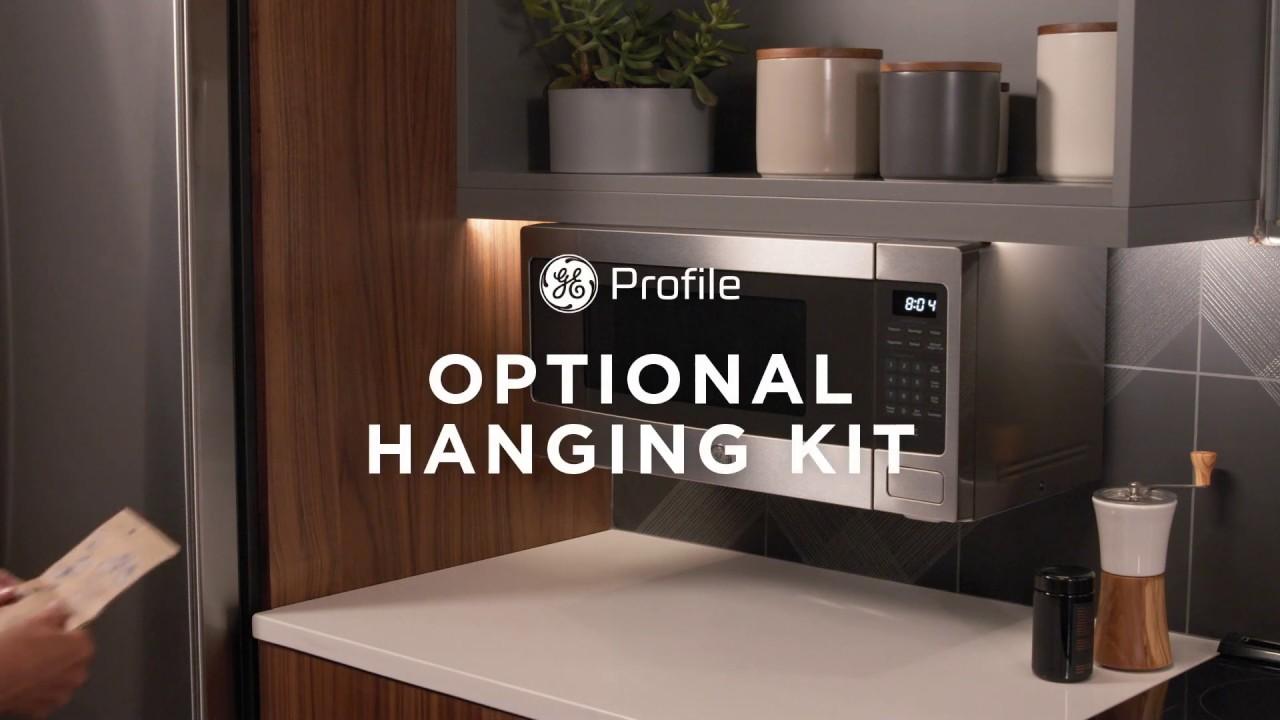 ge profile countertop microwave oven optional hanging kit