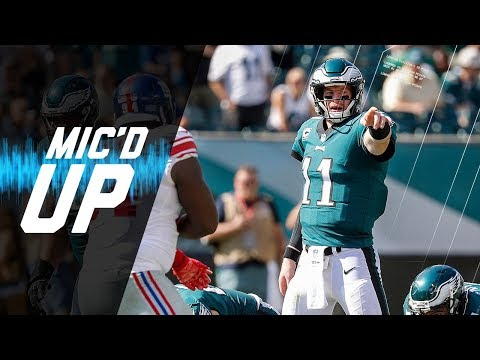 "Carson Wentz Mic'd Up vs. Giants ""I'll Give Him My Game Check If He Makes This Kick"" 