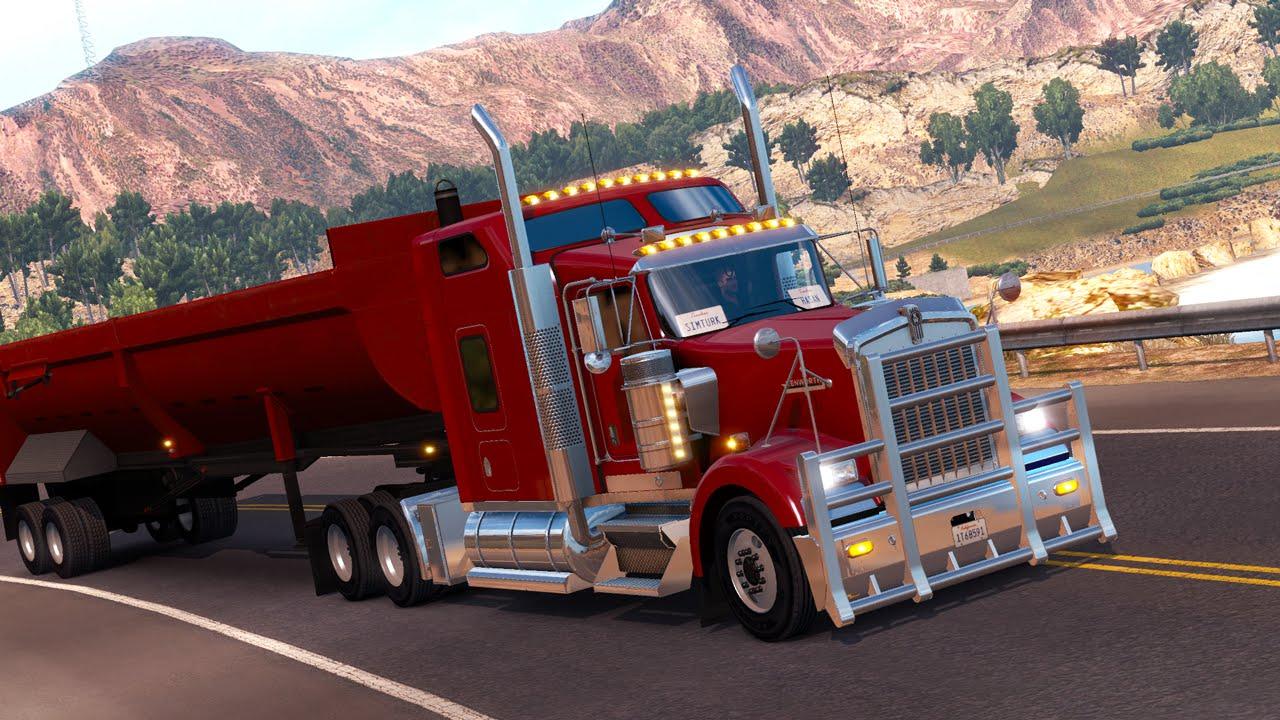 american truck simulator efsanevi kenworth w900 g ncellemesi youtube. Black Bedroom Furniture Sets. Home Design Ideas