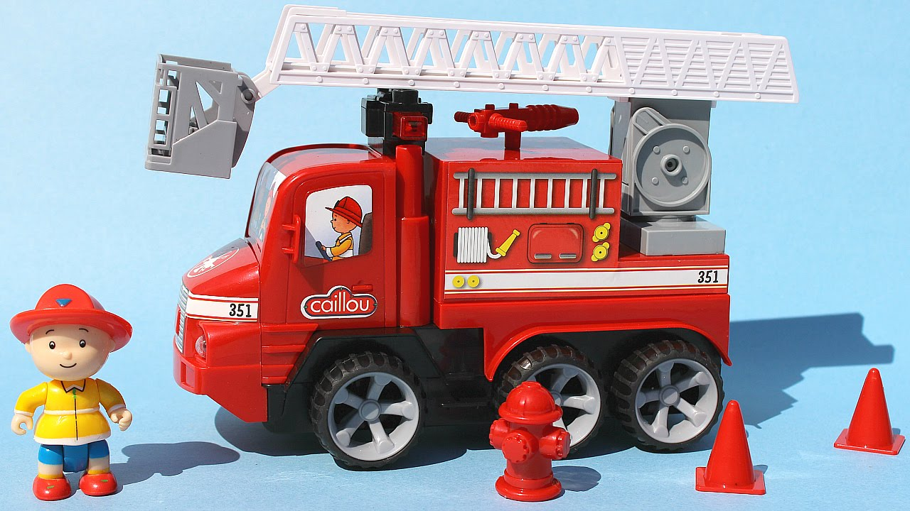 Caillou Juego De Camion De Bomberos Build N Play Fire Truck Toy Video Juguetes De Caillou Youtube