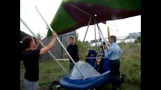 ДЕМОНСТРАЦИОННЫЙ полёт дельталёта ЖУК-42