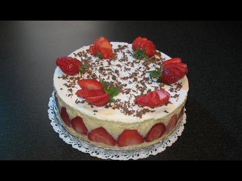 Торт Фрезье. Рецепт суфле. Торт с фруктами.