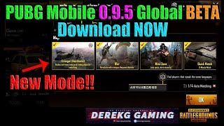 PUBG Mobile Global BETA 0.9.5 RELEASED - Download Link Included - Competitive Mode / M762 / More!!