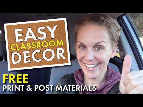 Free & Easy Classroom Decor for English Teachers, Bulletin Board, High School Teacher Vlog